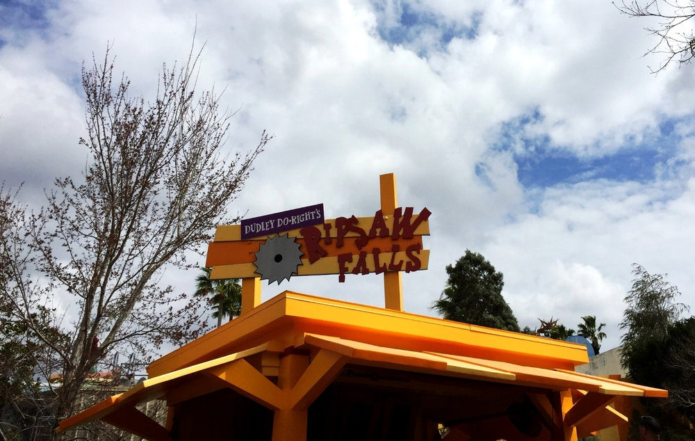 Dudley Do-Right's Ripsaw Falls Sign