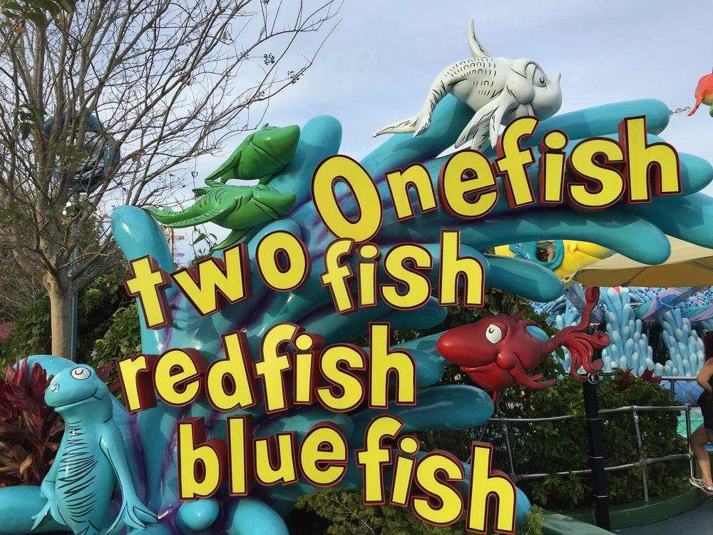 One Fish, Two Fish, Red Fish, Blue Fish Sign