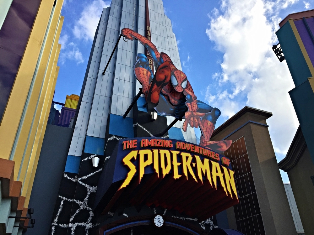 The Amazing Adventures of Spider-Man Entrance Sign