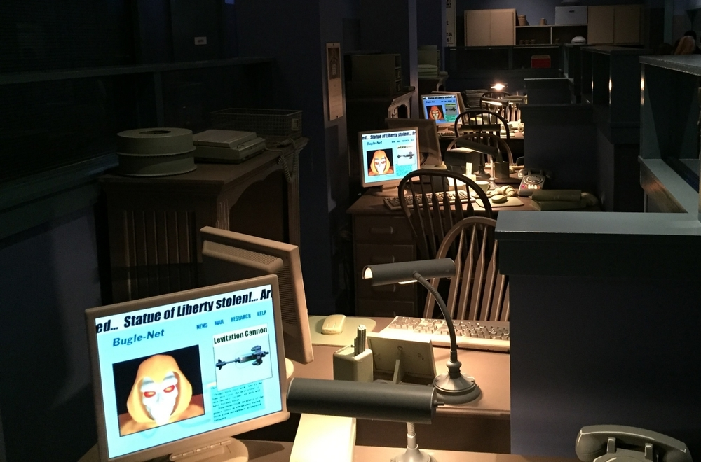 Daily Bugle Work Stations in Spider-Man Queue