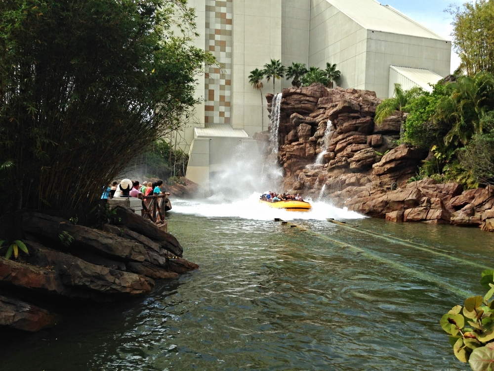 All Wet on the Jurassic Park River Adventure Ride