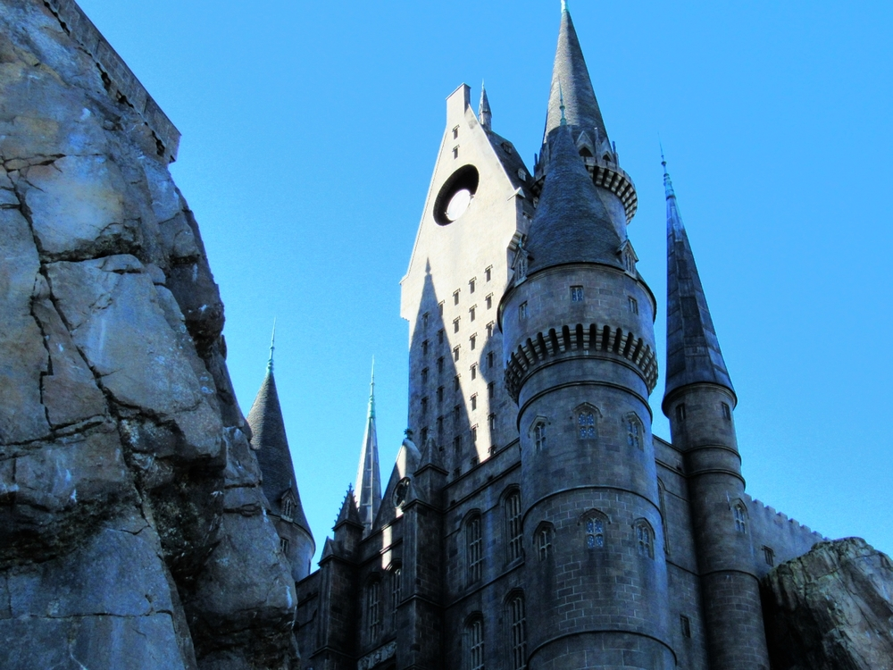 One of Hogwarts Towers at Harry Potter and the Forbidden Journey