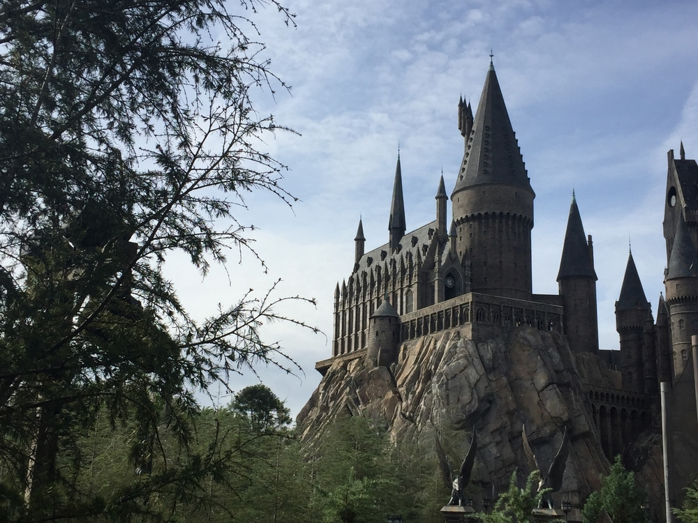 View of Hogwarts From Dragon Challenge Exit