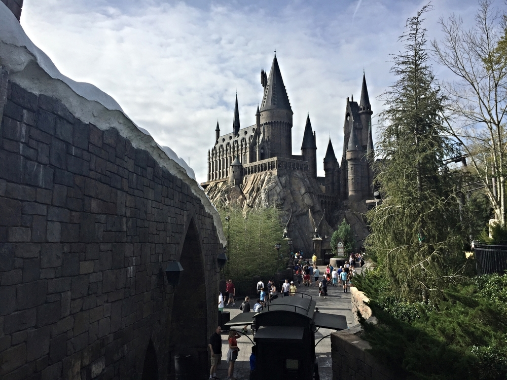 Exiting Dragon Challenge Gives a Nice View of Hogwarts