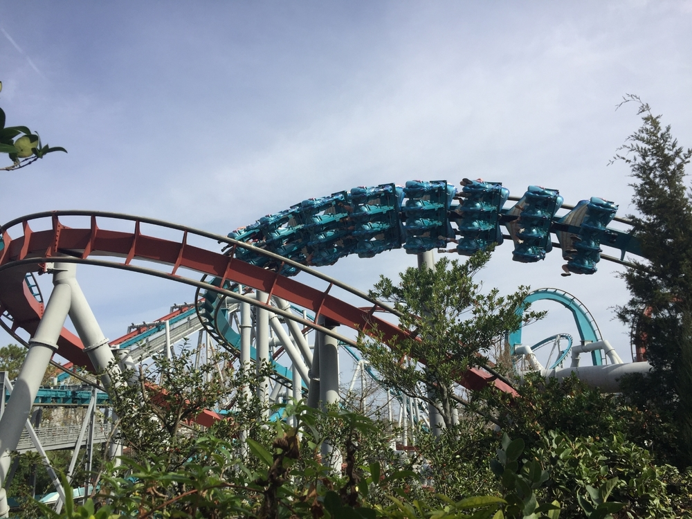 Gliding Through This Section of Dragon Challenge