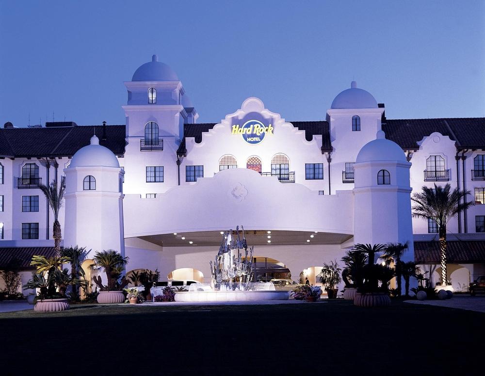 Hard Rock Hotel entrance. Image credit: Universal Orlando Resort.