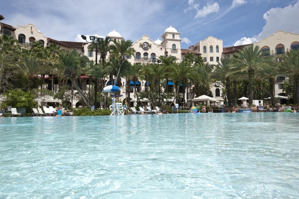 Hard Rock Hotel pool. Image credit: Universal Orlando Resort.