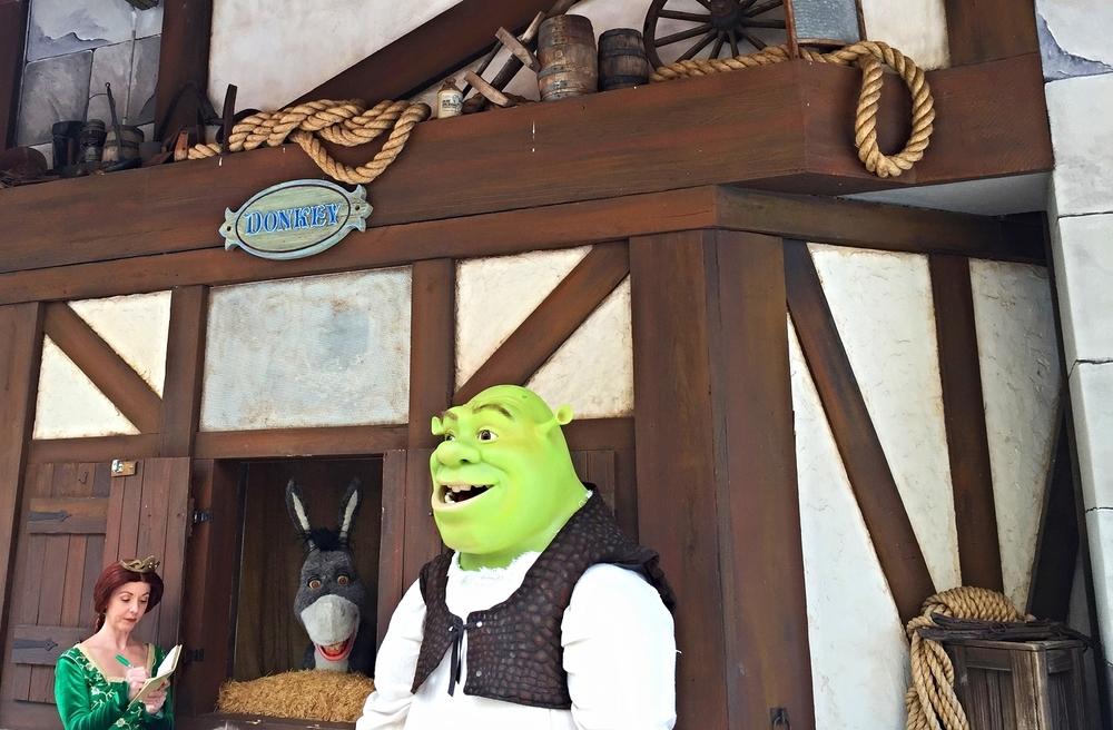 Shrek, Donkey and Princess Fiona