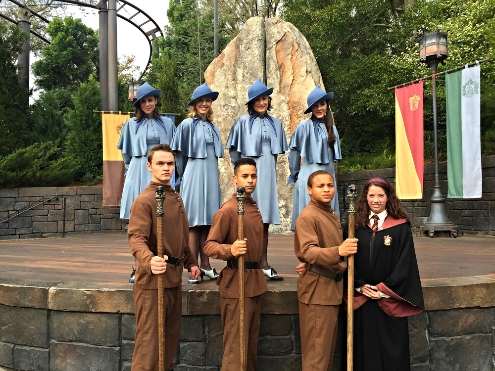 Tri-Wizard Spirit Rally in Hogsmeade