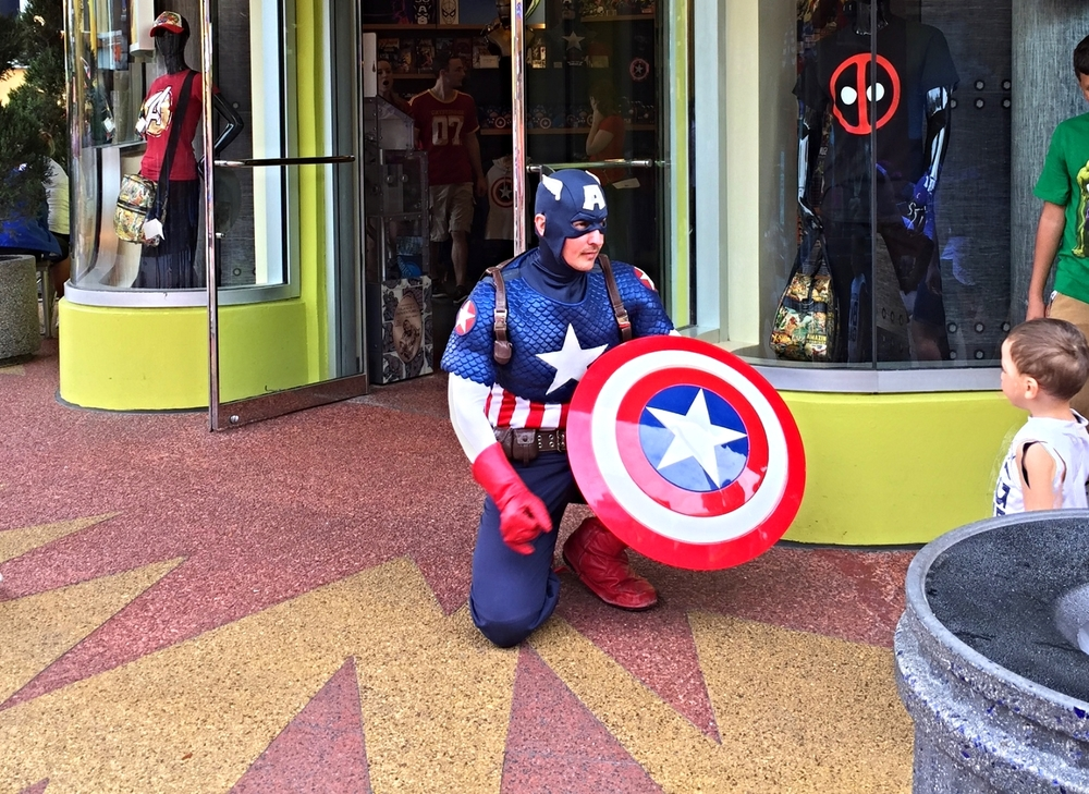Captain America Showing Off his Shield