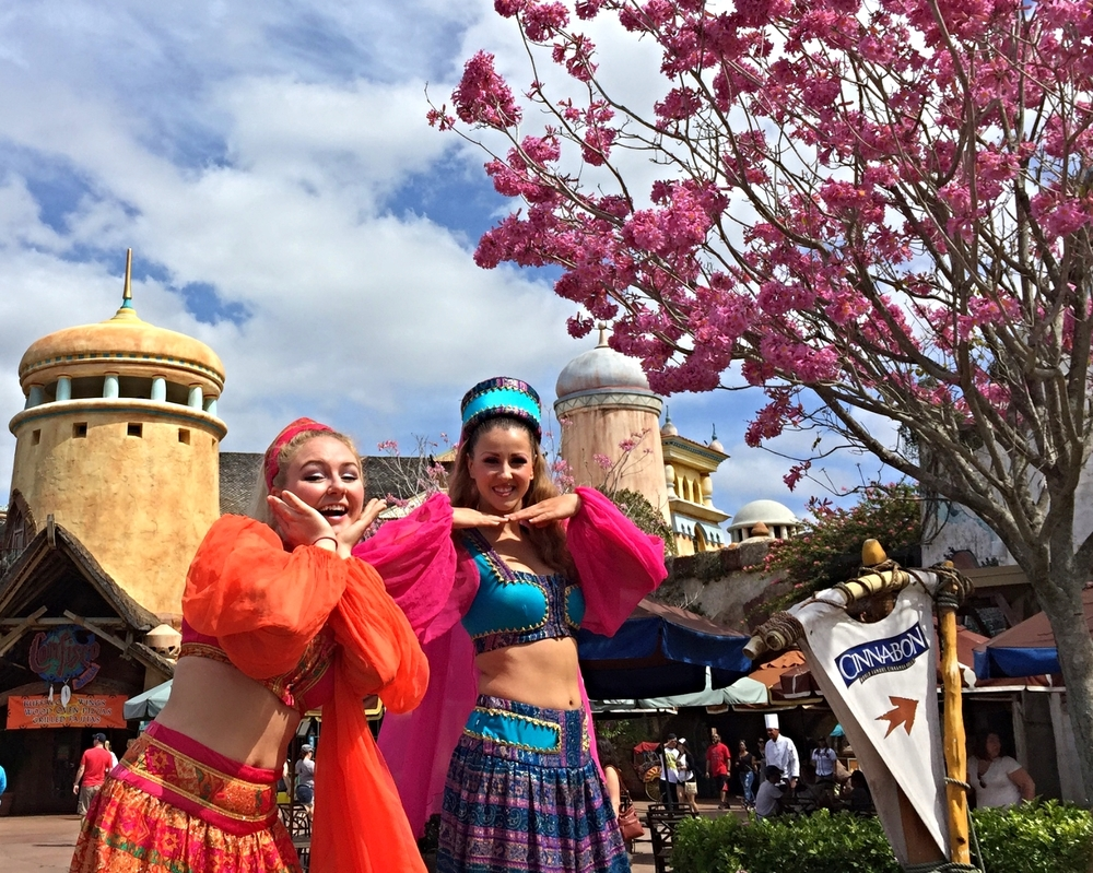 Stilt Walkers Strike a Pose in Port of Entry