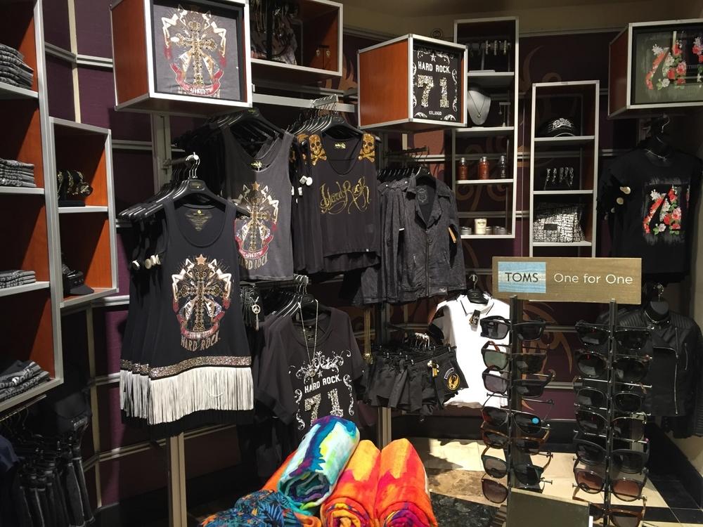 Ladies Apparel at Rock Shop in Hard Rock Hotel Orlando