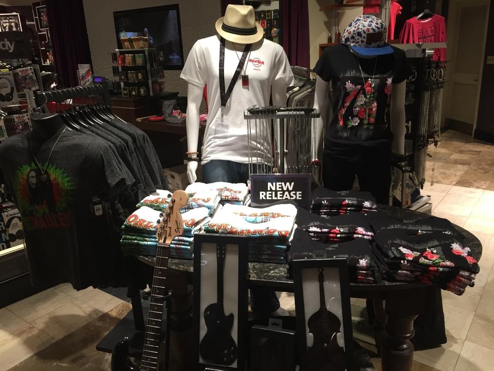 Apparel Display at Rock Shop in Hard Rock Hotel Orlando