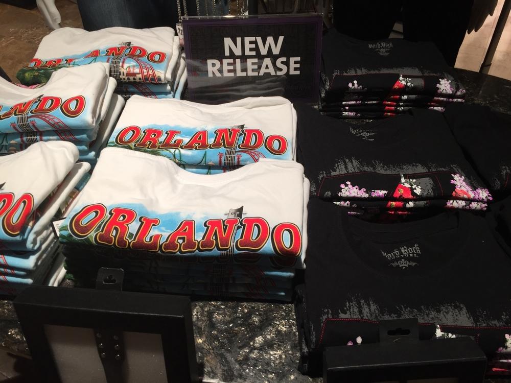 T-Shirts at Rock Shop in Hard Rock Hotel Orlando