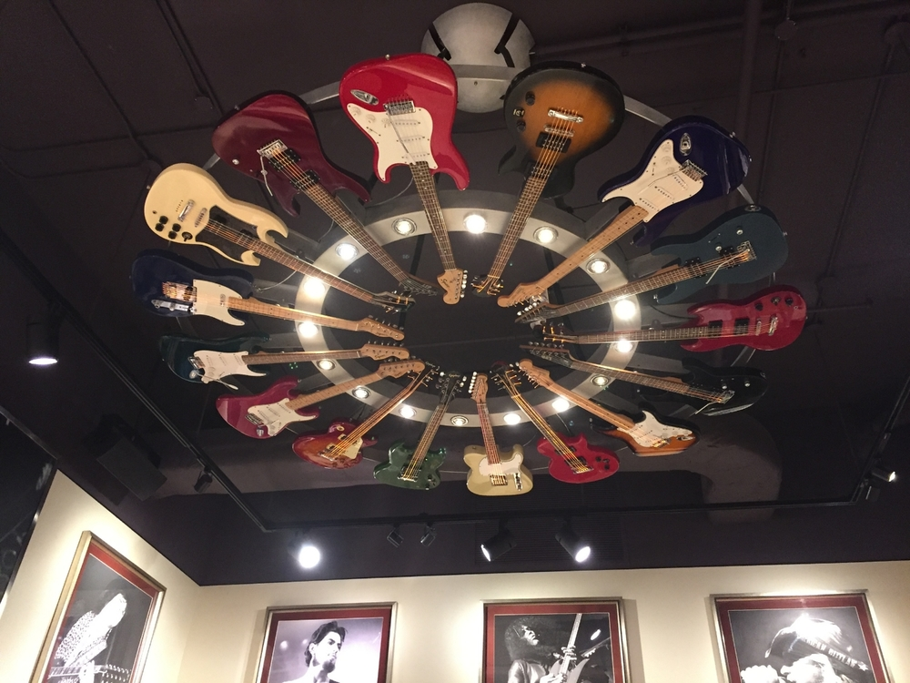 Guitar Light Fixture in Rock Shop at Hard Rock Hotel Orlando