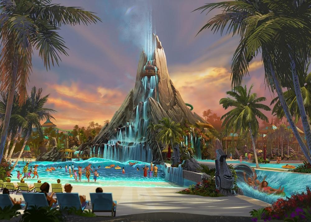 Volcano Bay concept art. Image credit: Universal Orlando Resort