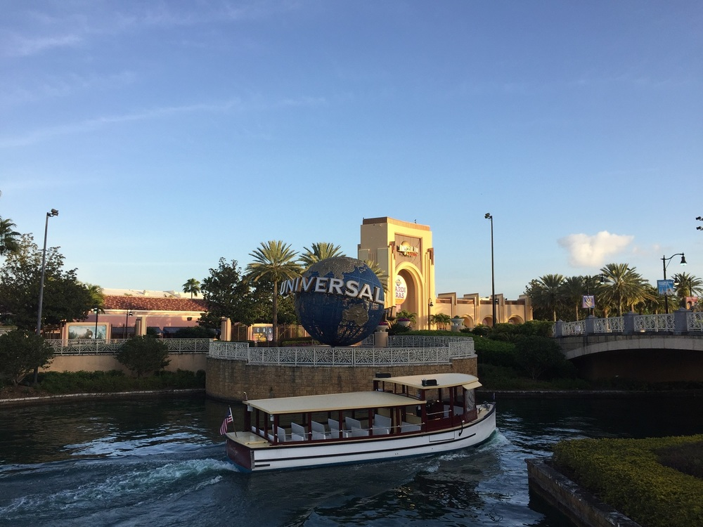 The Universal Studios Florida globe and gates.