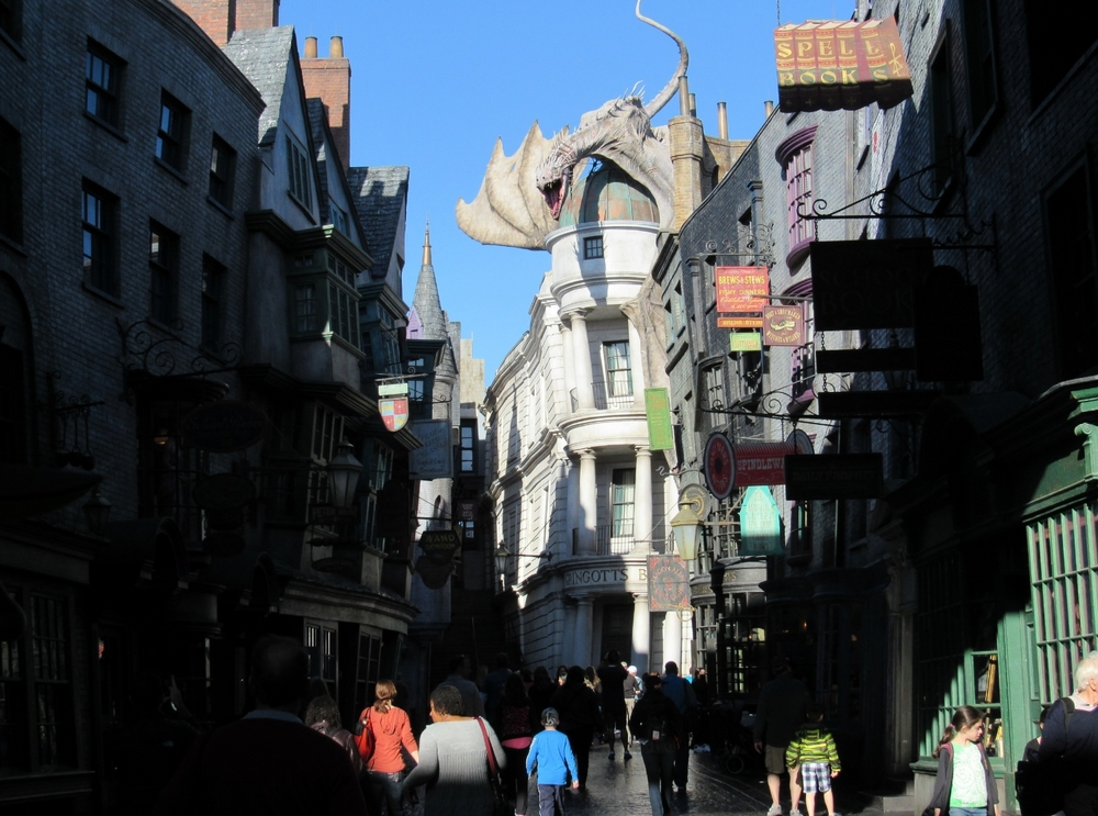 Diagon Alley in Universal Studios Florida.