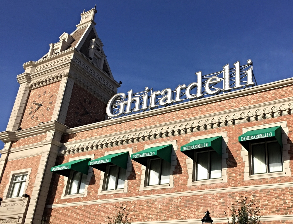 Ghirardelli factory in San Francisco in Universal Studios Florida.
