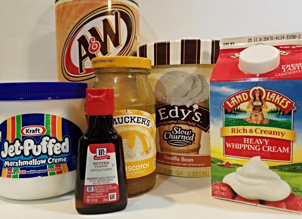 Butterbeer recipe ingredients.