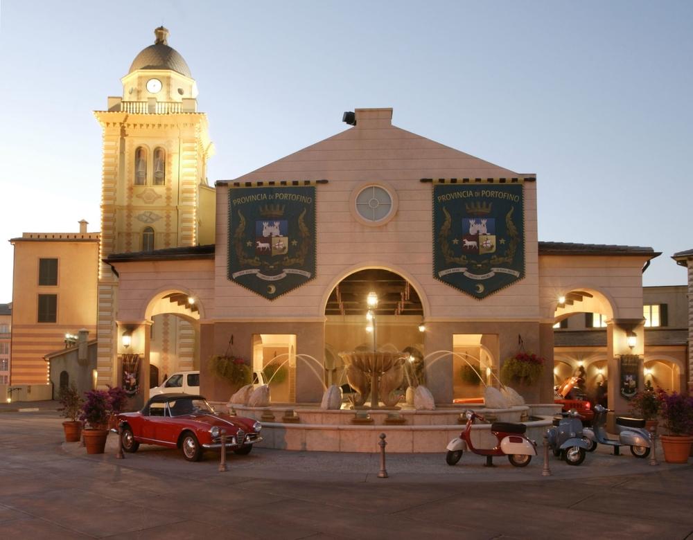 Loews Portofino Bay Resort entrance. Image credit: Universal Orlando Resort.