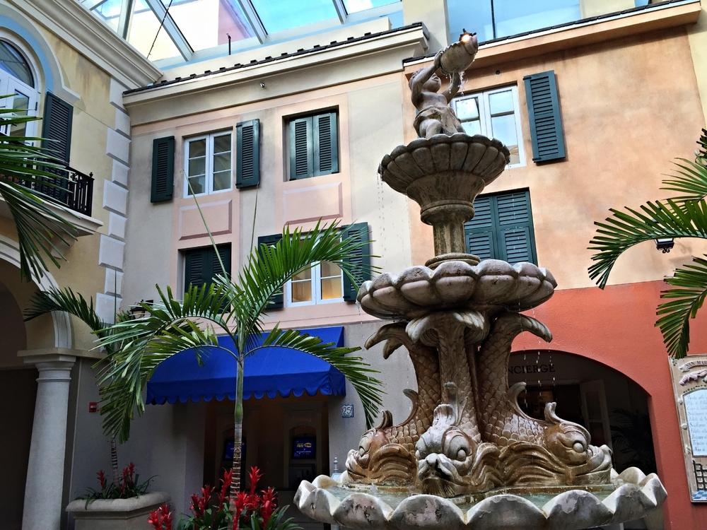 Loews Portofino Bay Resort Courtyard Fountain