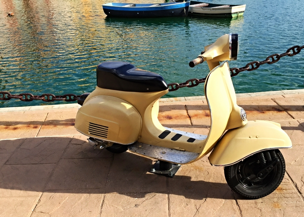 Scooter on the Dock at Loews Portofino Bay Resort