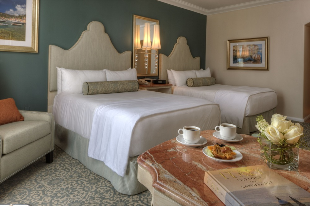 Loews Portofino Bay Resort standard room with two queen beds.  Image credit: Loews Hotels.