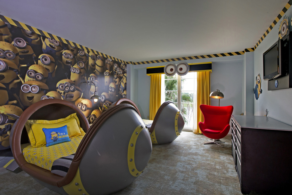 Loews Portofino Bay Resort Despicable Me Kids Suite. Image credit: Universal Orlando Resort.