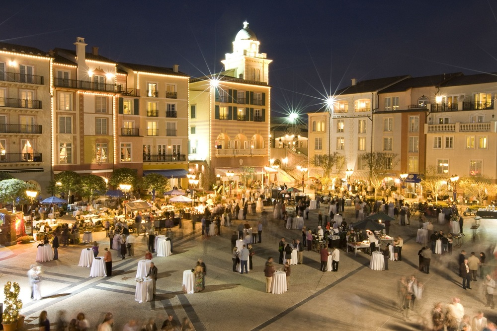Harbor Nights at Loews Portofino Bay Resort.