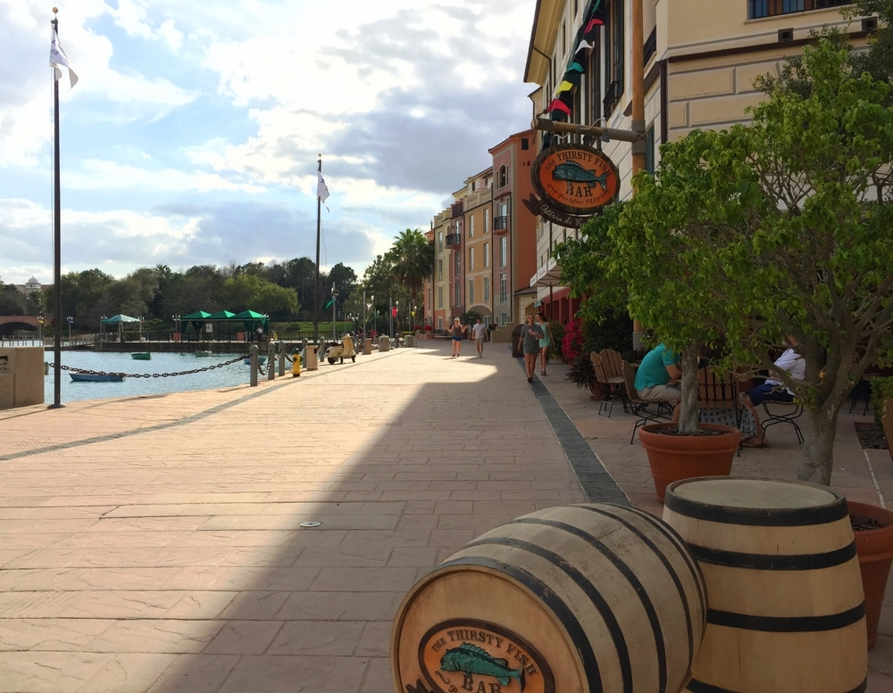 The Thirsty Fish at Loews Portofino Bay Resort.