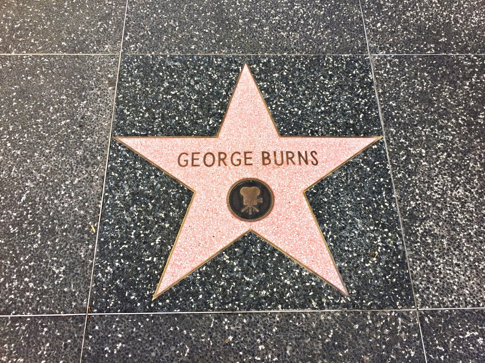 George Burns' star on the Hollywood Walk of Fame in Universal Studios Florida.