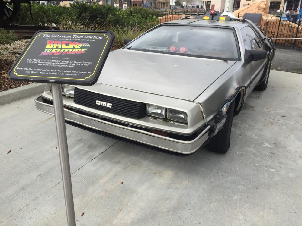 The DeLorean Time Machine in Universal Studios Florida.