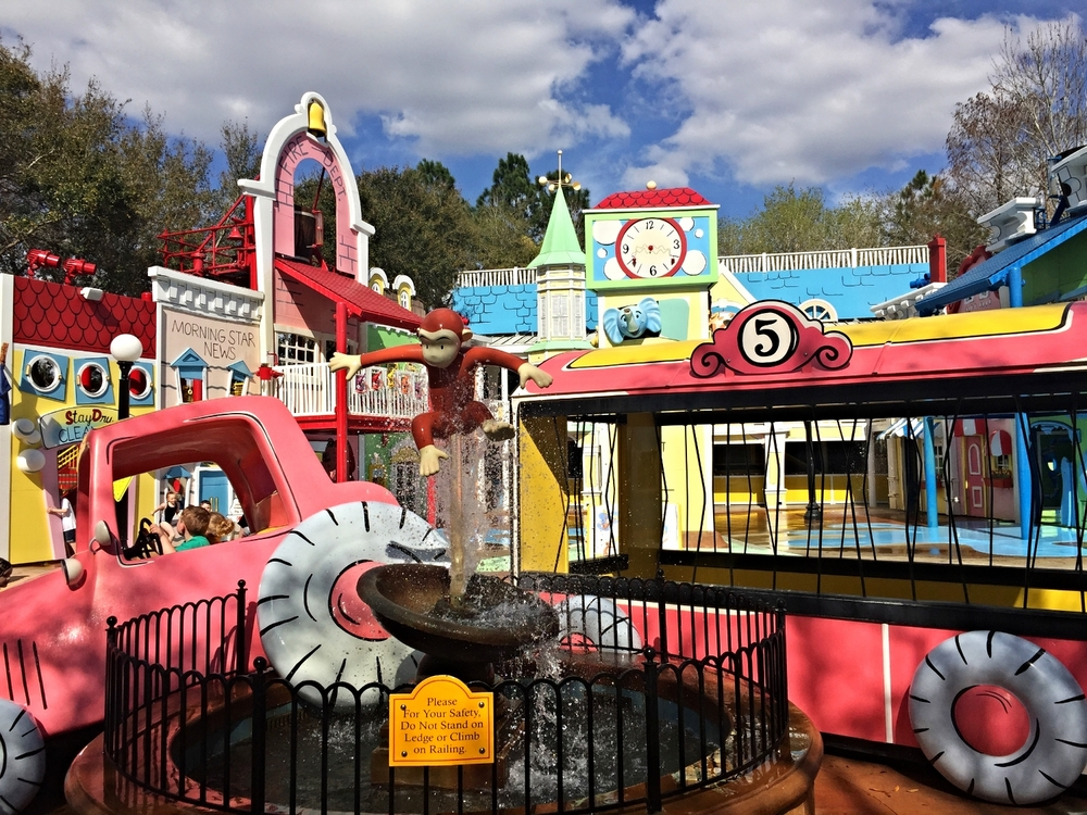 Curious George Goes to Town play area in Universal Studios Florida.