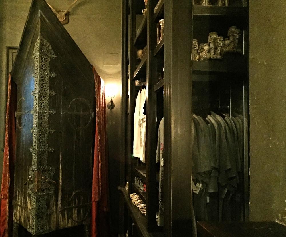 The Vanishing Cabinet in Knockturn Alley in Universal Studios Florida.