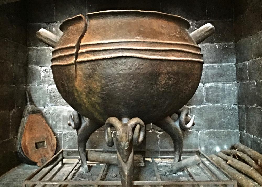 The leaky cauldron in Diagon Alley in Universal Studios Florida.