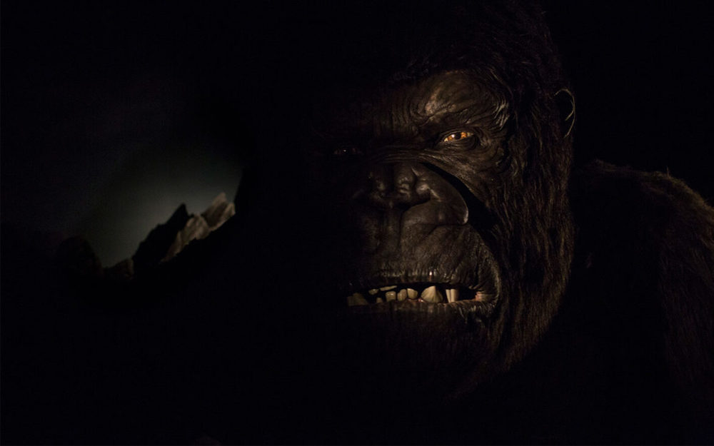 First look at Kong, the star of the Skull Island: Reign of Kong ride. Image credit: Universal Orlando Resort.