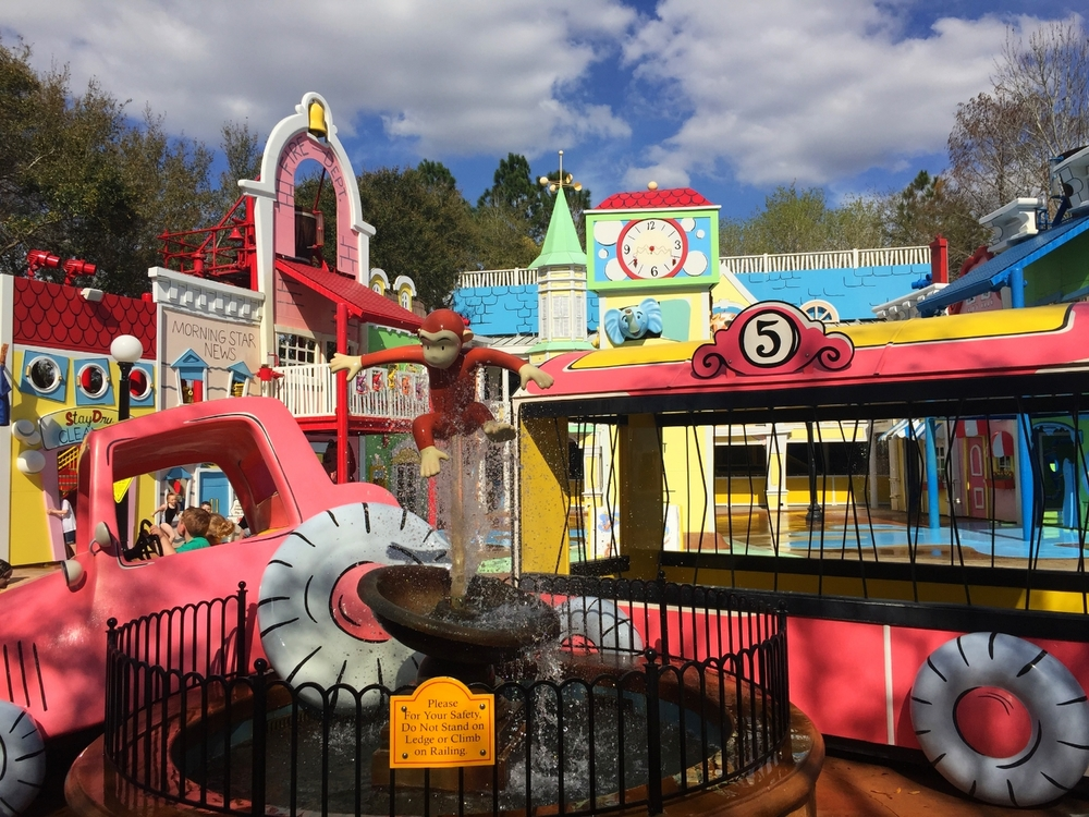 Curious George Goes to Town is a themed play area with water features.