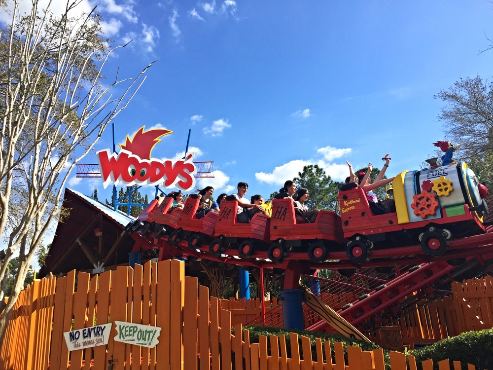 Woody Woodpecker's Nuthouse Coaster is a themed roller coaster for kids.