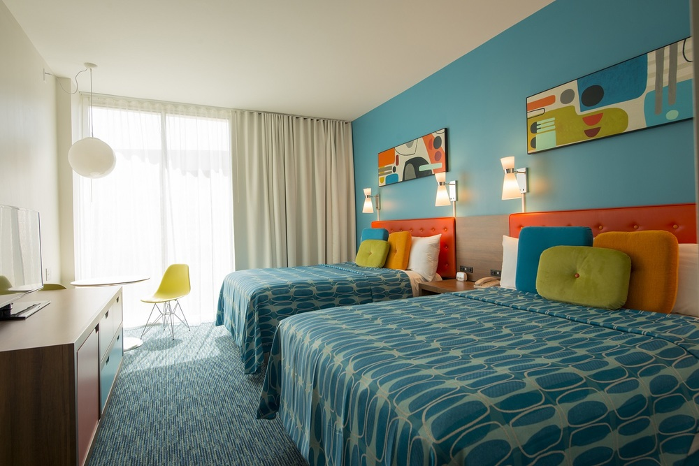 Cabana Bay Beach Resort is a Value Priced on-site hotel with a retro theme reminiscent of  1950's and 1960's  Florida beach resorts. It is the most reasonably priced resort on Universal property.