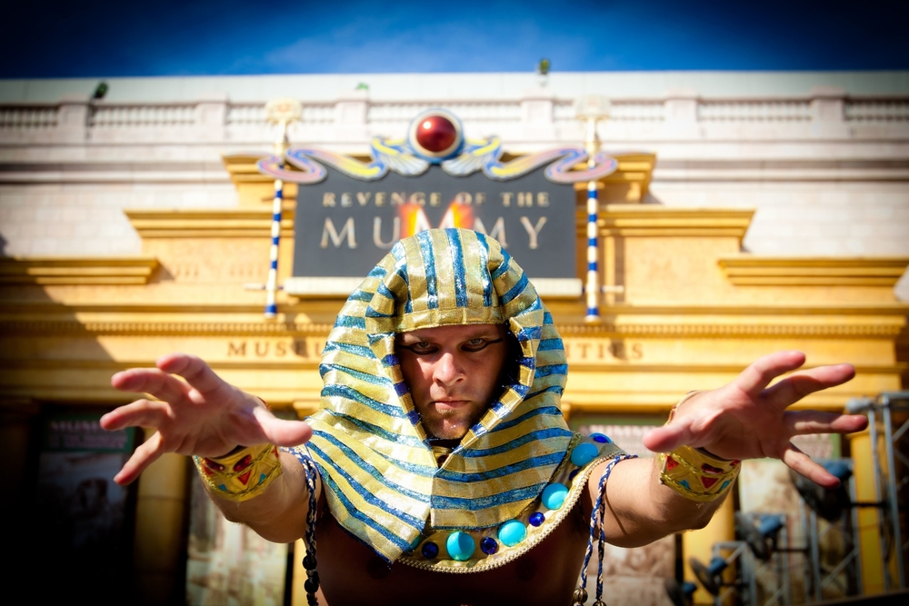 Learn about Revenge of the Mummy, an Egyptian themed roller coaster in the Museum of Antiquities in Universal Studios Florida.