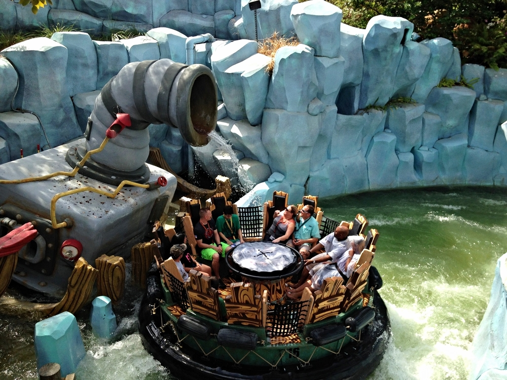Find out how wet you'll get on Popeye and Bluto's Bilge-Rat Barges in Islands of Adventure.