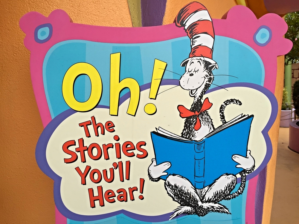 Oh! The Stories You'll Hear is a Seuss themed show that features a Dr. Seuss story (The Lorax) and a musical performance from a group of well-known Seuss characters.