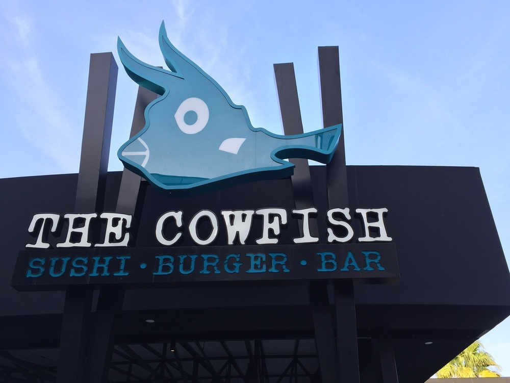 The Cowfish is a sushi burger bar with unique food and drink offerings.