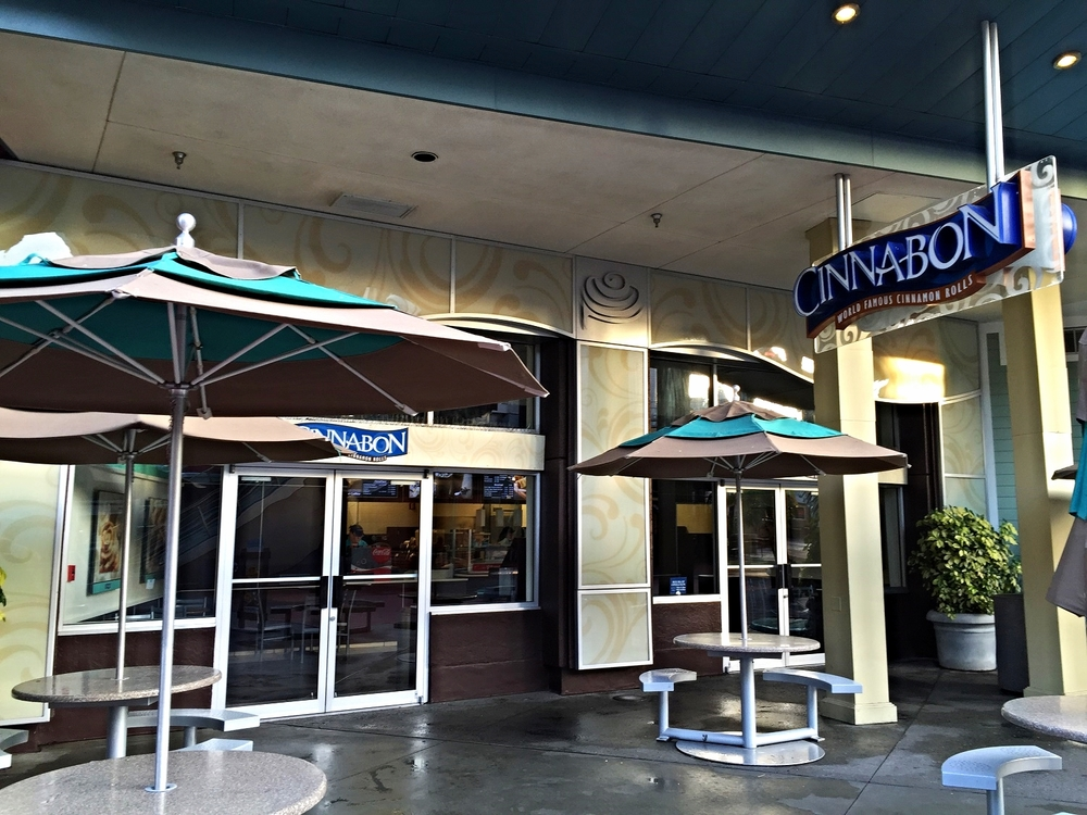 Cinnabon serves signature cinnamon rolls, coffee, and other hand-held breakfast items and snacks.