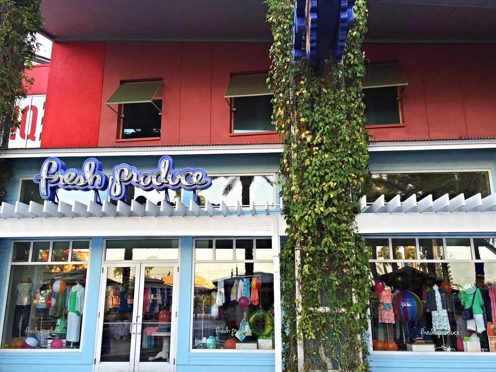 Fresh Produce sells clothing, particularly resort and cruise wear, for women and children.