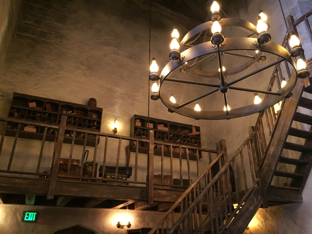 Leaky Cauldron Chandelier