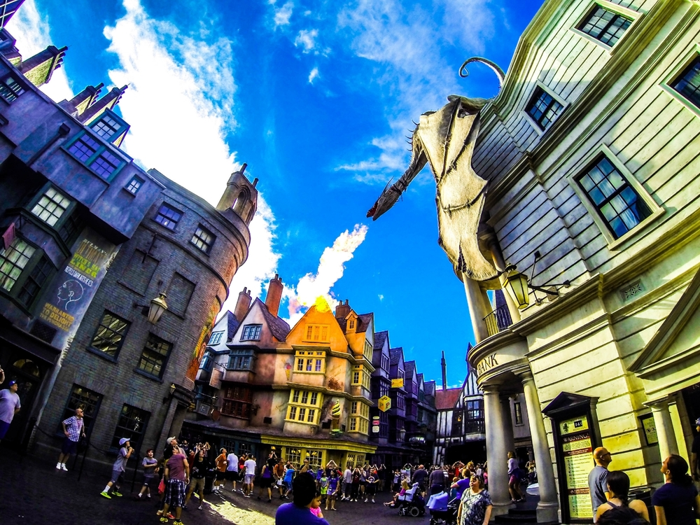 Diagon Alley in Universal Studios Florida. Copyright Bill Forshey. All rights reserved.