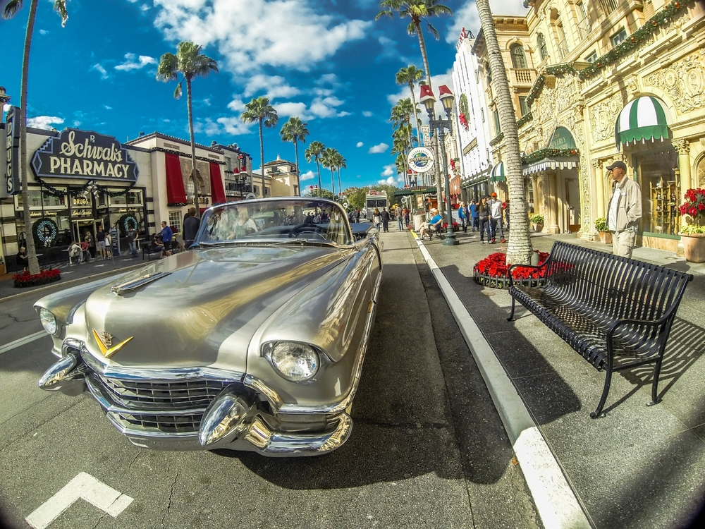Hollywood Boulevard in Universal Studios Florida.  Copyright Bill Forshey. All rights reserved.