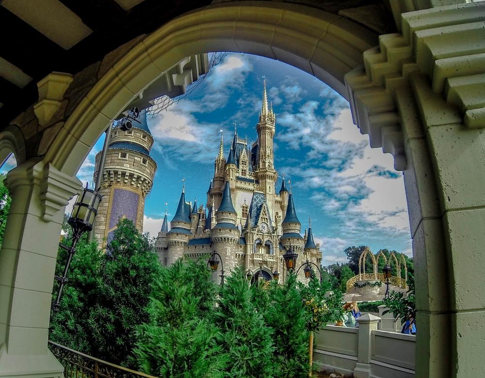 Cinderella's Castle Through Arch